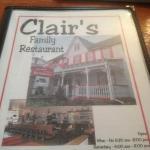 Clair's Family Restaurant Morgantown, PA