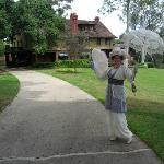 Mrs. C. in 1912 costume at the Marston House Museum
