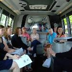 A La Carte Food Tours use comfy vans