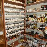 Selection of spices and vinaigrette and other goodies