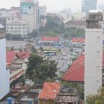Looking down at Ben Thanh Market