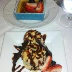 Desert was spectacular (Top - Creme Brulee; Bottom - Ice Cream)