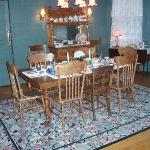 Table for Breakfast in Dining Room