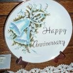 Commerative Aniversary Plate place in our room in recognition of our Aniversary by the Inn Keepe