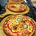 smiley pizzas!