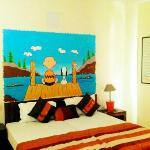 Doodle Room- AC room with double bed & quirky hand painted doodles