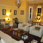 The beautifully furnished and decorated lounge