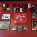Gorras autografiadas de pilotos de carreras americanos