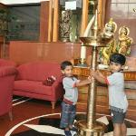Our kids playing in sitting area