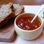 Homemade brown bread & marmalade