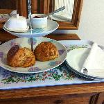 Scones upon arrival