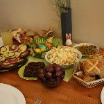 Traditional Lithuanian Easter breakfast