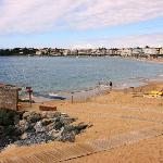 The beach at St Jean de Luz with access for disabled people