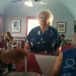 Sandy at the Diner (check out her designer shirts each morning)