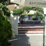 Entrance to the pool area