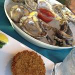 oyster and crab cake
