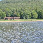 Chapman State Park's sand beach and concession stand