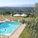 Zwembad met uitzicht op Florence