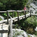 Crossing a bridge on the way down