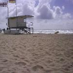 Lifeguards house on beach