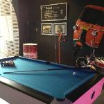 Pool table at bar