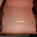 detalle asiento sucio