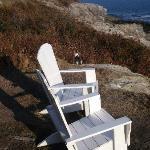 Sitting outside the Surf Side Inn
