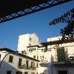 Balcony view of Hotel Miramar across the road