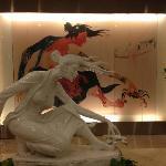 Impressive art in lobby