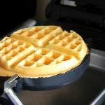 Making the waffles