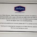 Notice of Discolored Water by Facility
