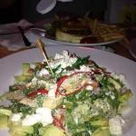 southwest salad with avocado cilantro dressing