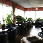 The relax/pub area