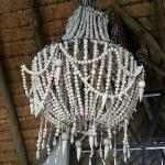 A beautiful chandelier in the foyer