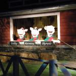 The singing cows on the Chocolate World ride