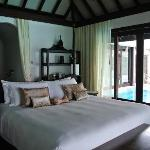 Our chamber with the private pool next to the bed