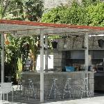The Boomerang Bar, site of the signature Orbitini, near the pool