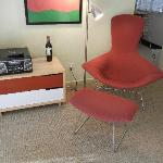 The Bertoia Chair and the phonograph