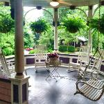My favorite part of the inn - the rocking chairs on the porch