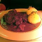 Beef bourguignon with potatoes