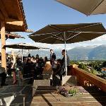 Terrasse avec vue sur les Alpes suisses : MAGNIFIQUE !
