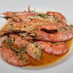 Prawns with herbs and garlic.....yummy