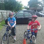 The boys on bikes.