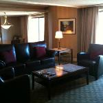 Looking towards the dining room of the Suite