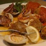 Hot Antipasto with Shrimp, Clams Oreganato & Casino, Eggplant Rolatini