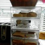 Café da manhã - Muffins e bolos escassos