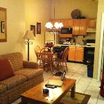 Unit B Living Room & Kitchen