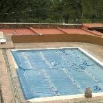 piscina cubierta esta vez. Hacía frio