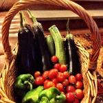 Fresh Veggies from the host's garden.