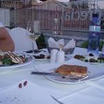 Platos de entrada en la segunda cena